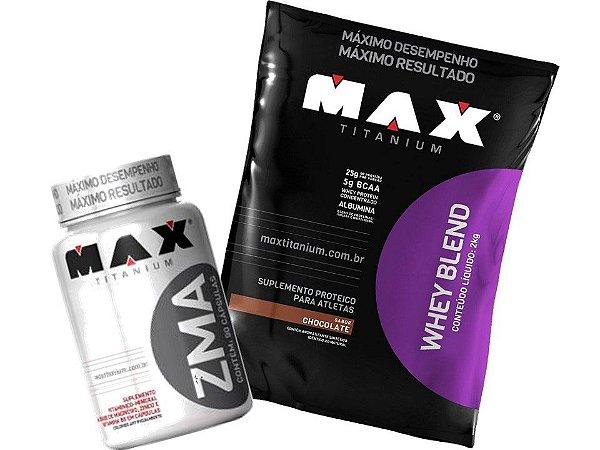 d2109357b Whey Protein Blend 2Kg + Zma - Max Titanium - Armazem do Corpo