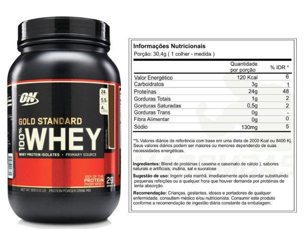 100% Whey Gold Standard 2 Lbs Optimum Nutrition