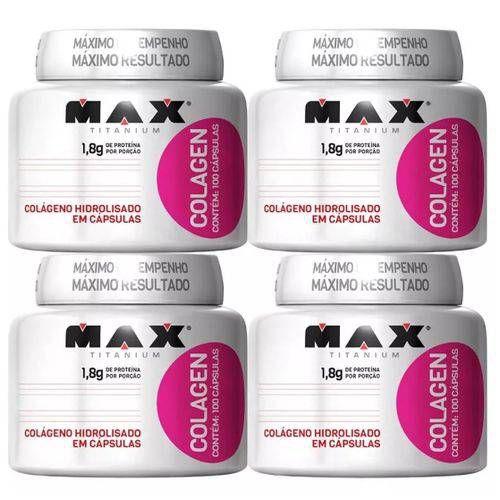 4x Colagen 100 capsulas Max Titanium