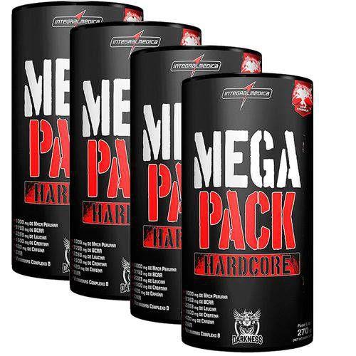 Kit 4x Mega Pack Hardcore (30 Packs) Integralmédica