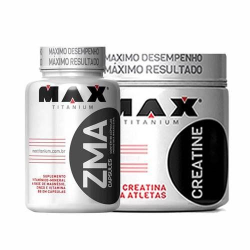 Kit Creatina + Zma - Max Titanium