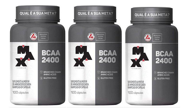 Kit C/ 03 Bcaa 100 Cáps - Max Titanium