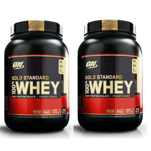 Kit 2X Whey Gold Standard 907GR (1.8KG) - Optimum Nutrition