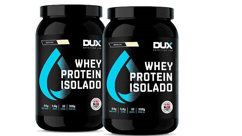 2 XWhey Protein Isolado - DUX Nutrition - 900g morango