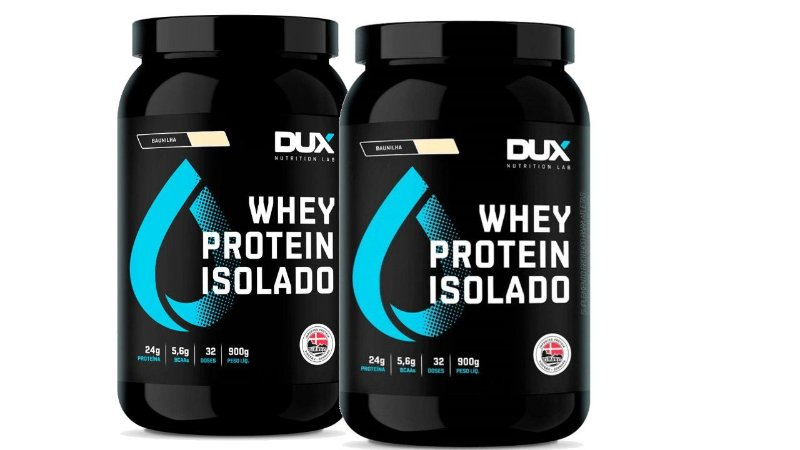 2 XWhey Protein Isolado - DUX Nutrition - 900g - chocolate