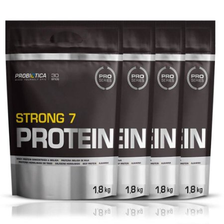 4x Whey Protein Strong 7 1800g Cada - Probiót