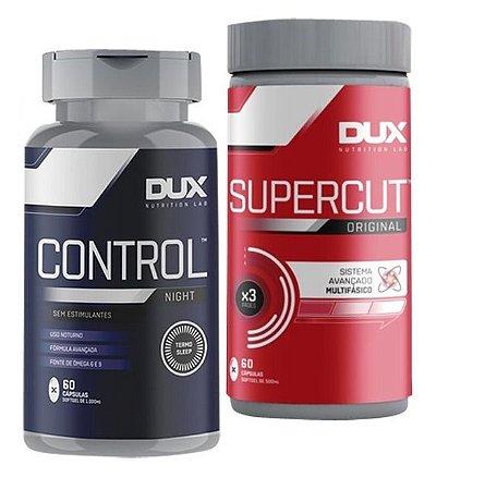 Kit Termogenico Supercut + Emagrecedor Control Night - Dux