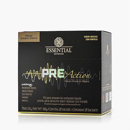 PRE-ACTION ENERGY DRINK 540g - Box c/ 20 sachês Essential