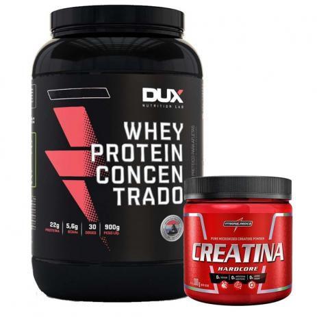 Whey Protein concentrado 900g Dux + Creatina 300g Integral