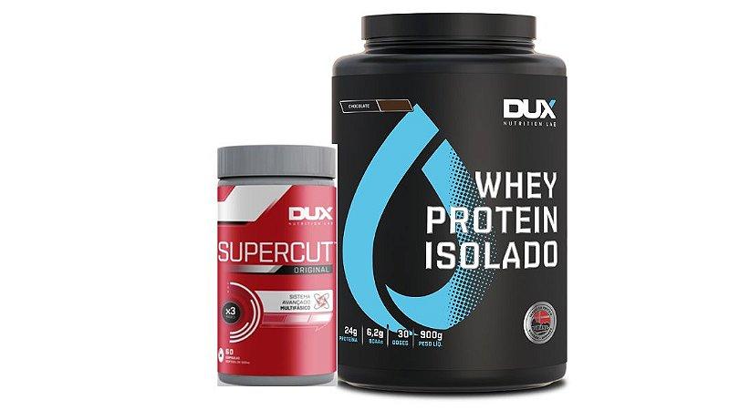 Kit Whey Protein Isolado 900g + Burn Supercut Dux nutrition