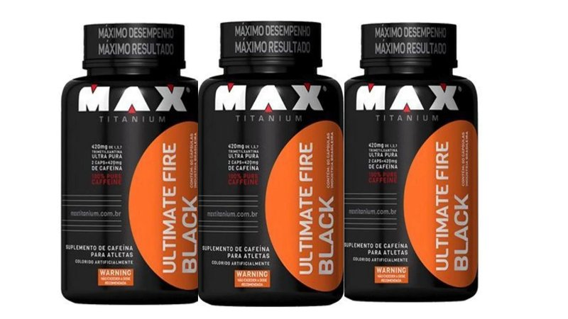 3 x Termogênico Ultimate Fire Black 120cap Max titanium