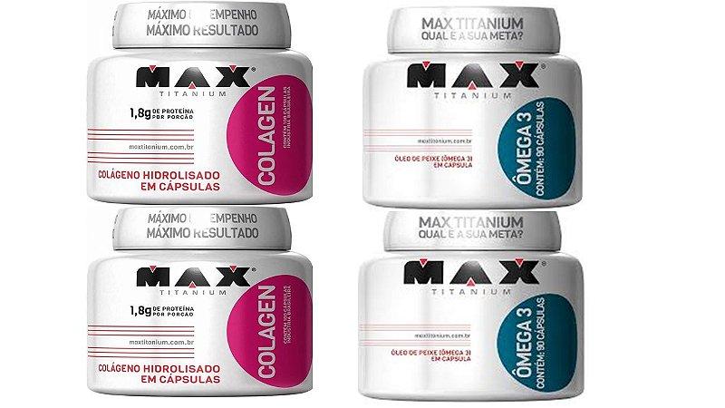 Combo 2 x collageno 100 cap. +2x omega 3 90cap max titanium