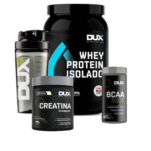 Kit Dux Nutrition Whey Isolado  + BCAA + Creatina+ coq