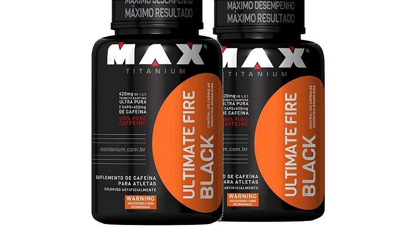 2XTermogenico ultimate Fire Black 120 CáP MAX TIT