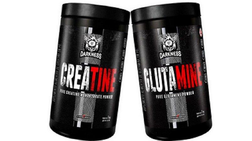 Creatina 1kg + Glutamina 1kg - darkness