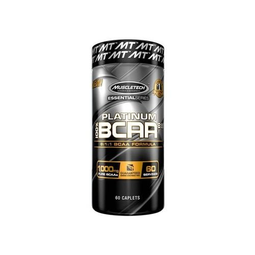 Platinum 100% Bcaa 8:1:1 Muscletech 60 Tabletes