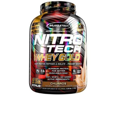 Whey Protein Nitro Tech 100% Whey Gold 5.5 Lbs Muscletech