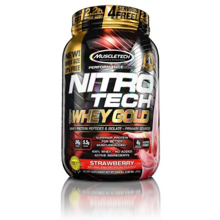 Whey Protein Nitro Tech 100% Whey Gold 2.2 Lbs Muscletech