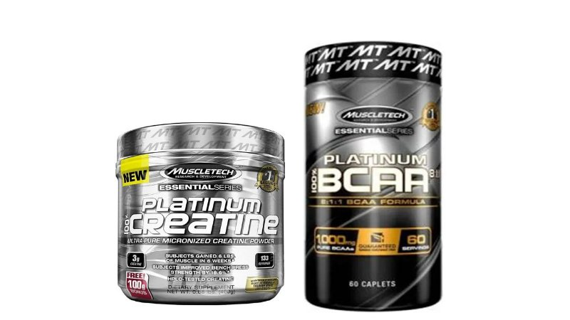 Creatine Platinum 100 (400G)+100% BCAA Platinum 8:1:1 muscle