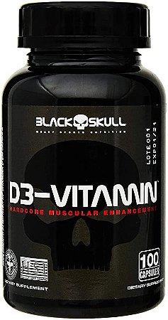D3-Vitamin - 100 Cápsulas - Black Skull