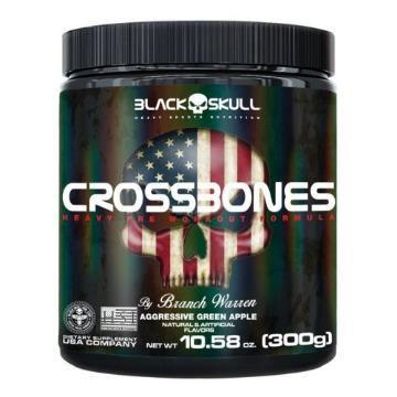 PRÉ TREINO Crossbones Black Skull 300g vencimento 03/2021