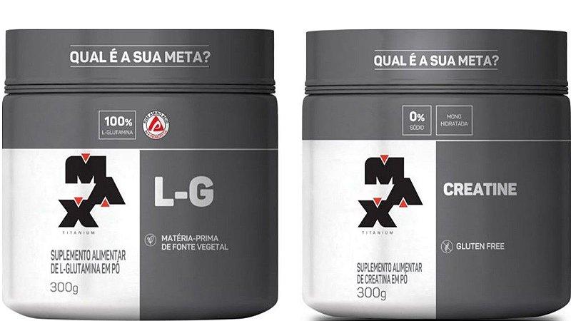 Creatina 300g + Glutamina 300g Max titanium