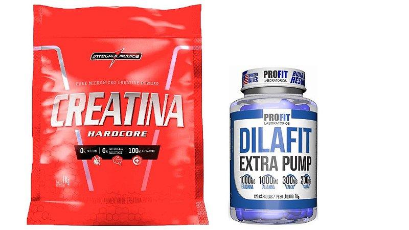 Creatina  Pouch  1kg integralmedica + Dilafit Extra Pump 120 capsulas