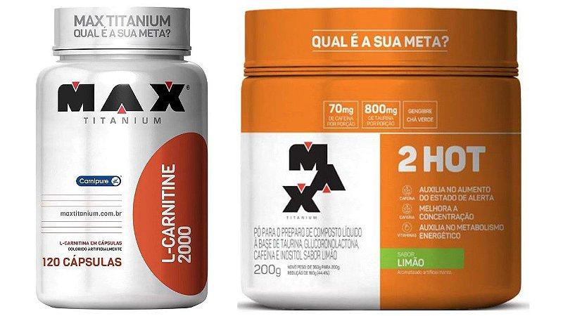 Carnitina 2000 120 capsulas + 2Hot 200G Max Titanium
