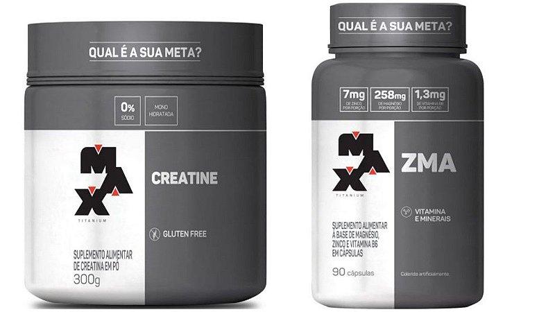 Creatina 300g + ZMA 90 Capsulas Max titanium