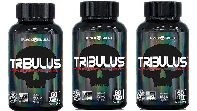 Combo Atacado Tribulus Terrestris 60 Cápsulas - Black Skull