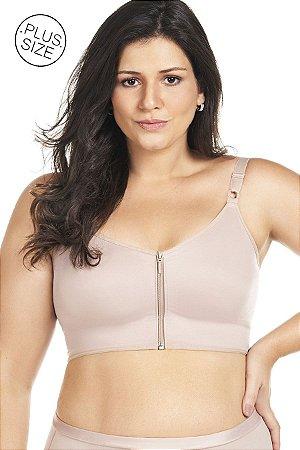 Sutia Reforçado com Ziper Plus Size Mondress