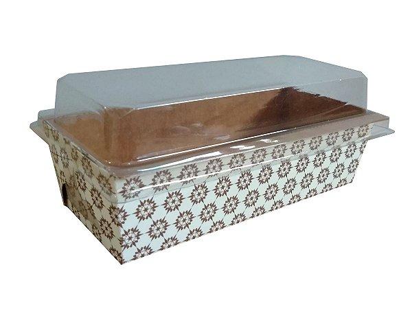 ABI 19 - Assadeira forneável para bolo inglês com tampa. Capacidade 400 gramas. Caixa com 100 unidades