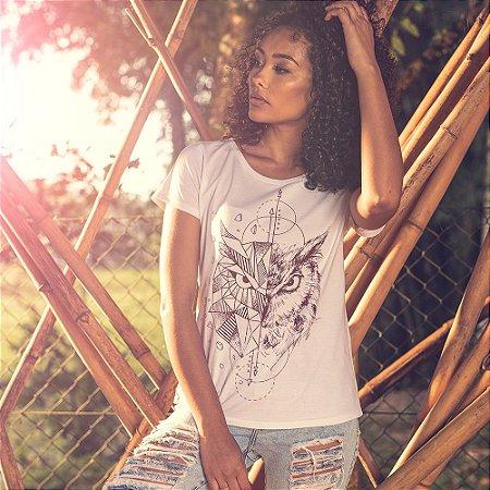 T-shirt Coruja Branca