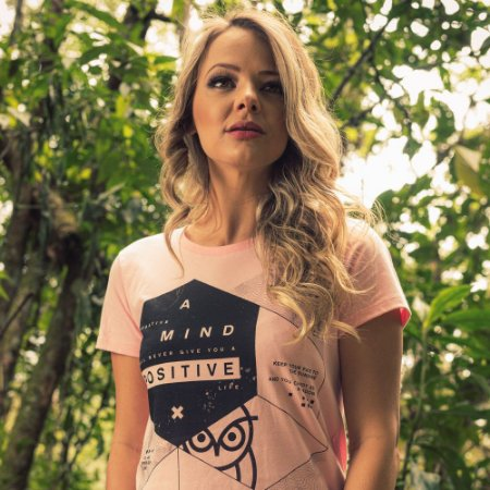 T-Shirt Nogah Positive Mind Rosa