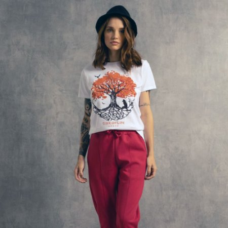 T-shirt Nogah Tree Round Branca