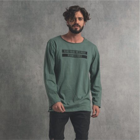 Camiseta Nogah Create It Longline Verde