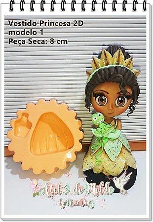Vestido Princesas 2D modelo 1