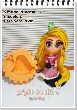 Vestido Princesas 2D modelo 2