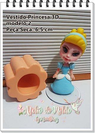 Vestido Princesas 3D modelo 2