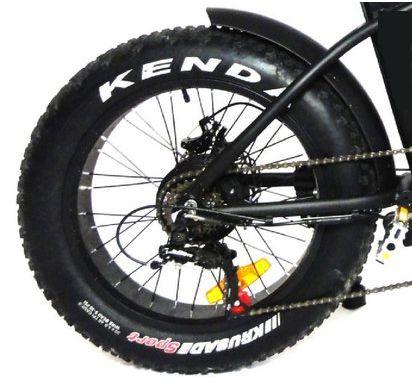 Roda traseira aro 20 e motor Fat Bike Elétrica Eco Zone