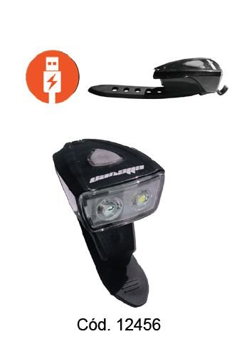 FAROL/PISCA BATERIA 2 LEDS