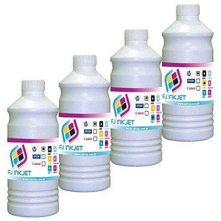 4 Litros de Tinta Para Impressoras HP
