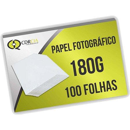 Papel Fotográfico 180g 100 Folhas