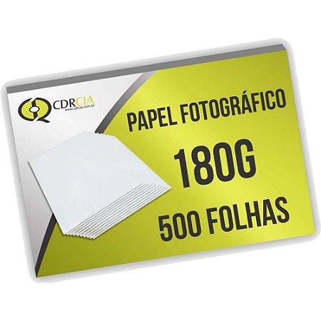 Papel Fotográfico 180g 500 Folhas