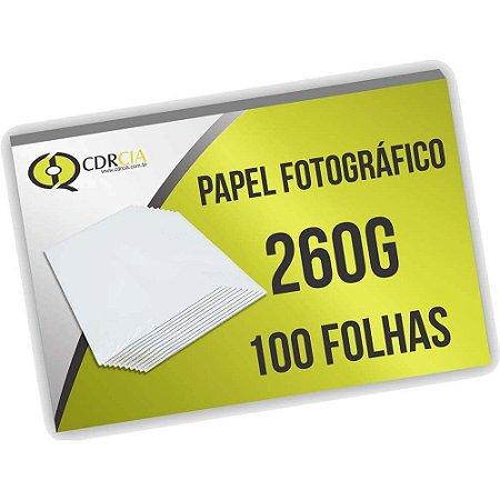 Papel Fotográfico 260g 100 Folhas