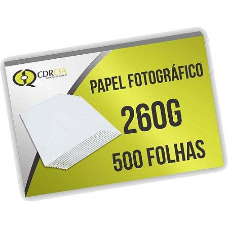 Papel Fotográfico 260g 500 Folhas