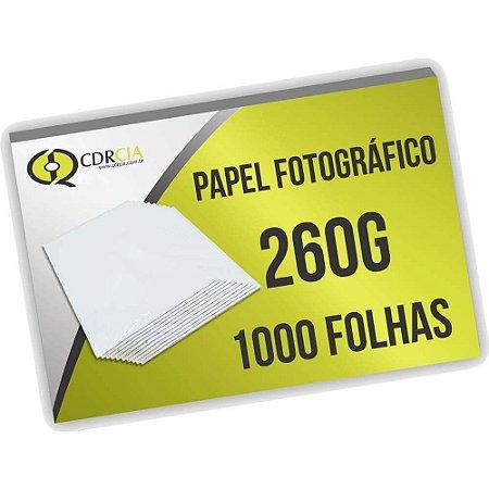 Papel Fotográfico 260g 1000 Folhas