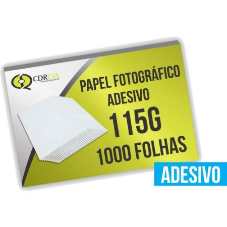Papel fotográfico adesivo 115g glossy, 1000 folhas