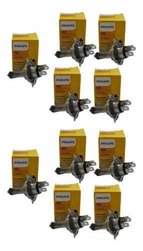 Kit 10x Lâmpadas Farol H4 12v 55/60w Philips 12342c1