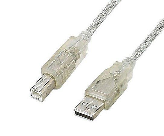 CABO USB P/ IMPRESSORA 1,8M CRISTAL - FCAB2